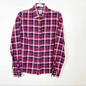 Stella Jean Checkered Shirt in Red Size 44